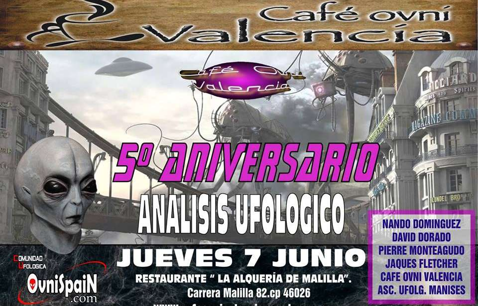 Quinto aniversario Cafe ovni Valencia