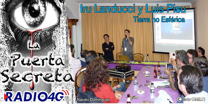Debate Tierra no esférica Iru Landucci , Luis Pisu, Nando Dominguez y Isabel Dauden