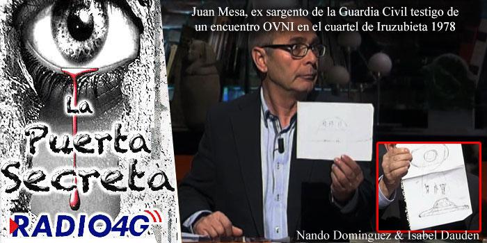 Juan Mesa Guardia Civil testigo de un encuentro OVNI en el País Vasco