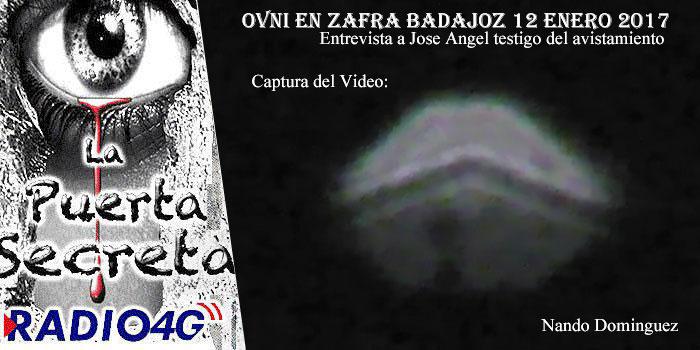 Ovni en Zafra Badajoz 12 Enero 2017 entrevista a uno de los testigos