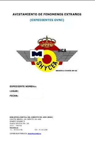 Expediente Ovni 1993-03-31 Avistamiento en Madrid