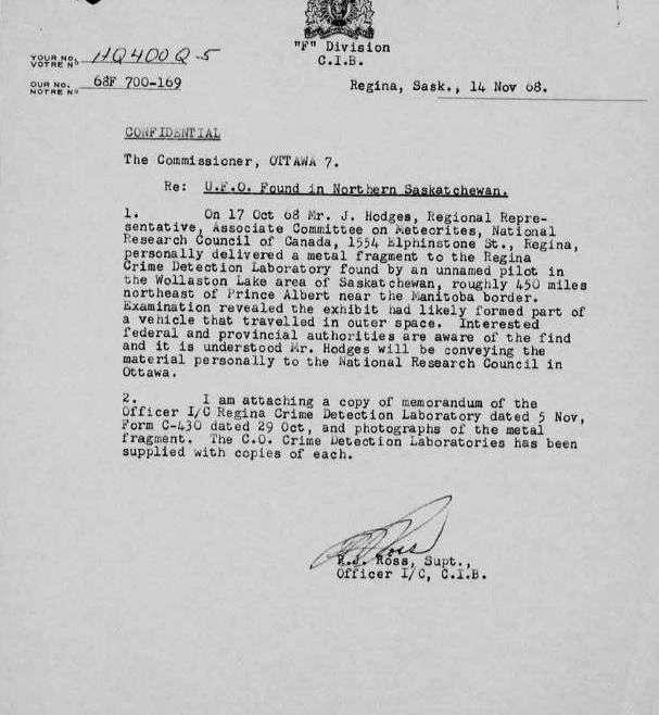 Canadian UFO file