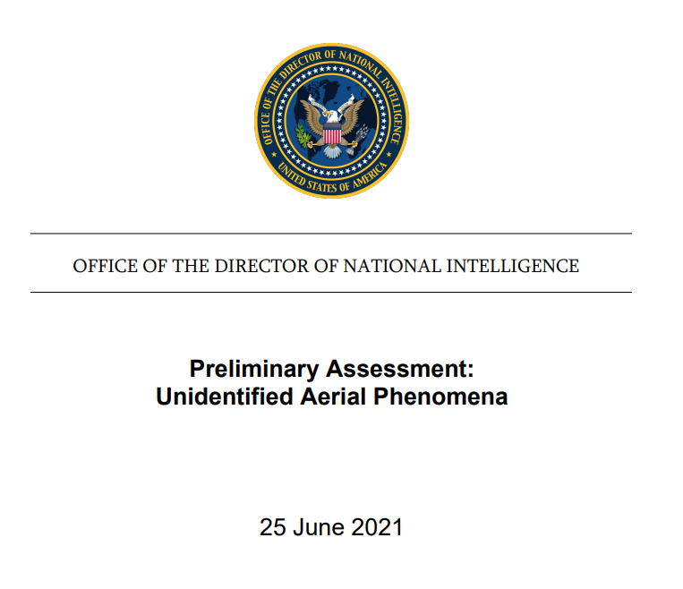 informe sin clasificar del Grupo de Trabajo de Fenómenos Aéreos No Identificados del Pentágono
