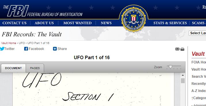 FBI UFO files